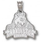 """Charleston Cougars """"Full Cougar Head"""" Pendant - Sterling Silver Jewelry"""
