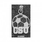 "Cleveland State Vikings ""CSU Soccerball"" Pendant - Sterling Silver Jewelry"