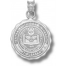 """Central Michigan Chippewas """"Seal"""" Pendant - Sterling Silver Jewelry"""