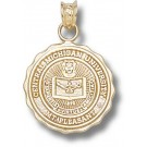 """Central Michigan Chippewas """"Seal"""" Pendant - 14KT Gold Jewelry"""