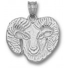 "Colorado State Rams Detailed ""Ram"" Pendant - Sterling Silver Jewelry"