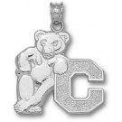 """Cornell Big Red Bears """"Bear with C"""" Pendant - Sterling Silver Jewelry"""