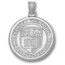 """Cornell Big Red Bears """"Seal"""" 3/4"""" Pendant - Sterling Silver Jewelry"""