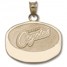 """Phoenix Coyotes 5/8"""" Puck Pendant - Gold Plated Jewelry"""