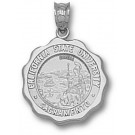 """California State (Sacramento) Hornets """"Seal"""" Pendant - Sterling Silver Jewelry"""