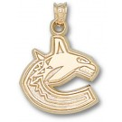 "Vancouver Canucks 5/8"" ""C"" Logo Pendant - 10KT Gold Jewelry"