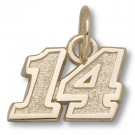 "Tony Stewart #14 5/16"" Small Charm - 10KT Gold Jewelry"