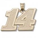 "Tony Stewart #14 5/8"" Large Pendant - 14KT Gold Jewelry"