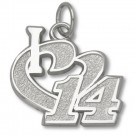 "Tony Stewart 1/2"" ""I Heart 14"" Charm - Sterling Silver Jewelry"