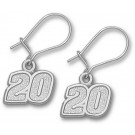 "Joey Logano 5/16"" Small #20 Dangle Earrings - Sterling Silver Jewelry"