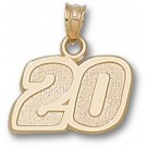 "Joey Logano Medium Driver Number ""20"" 1/2"" Pendant - 14KT Gold Jewelry"