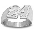 "Jeff Gordon Medium ""Driver Number 24"" Men's Ring Size 10 1/2 - 14KT Gold Jewelry"