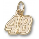 """Jimmie Johnson 5/16"""" Small #48 Charm - 10KT Gold Jewelry"""
