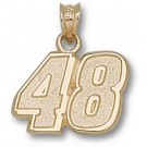 "Jimmie Johnson Medium Driver Number ""48"" 1/2"" Pendant - 14KT Gold Jewelry"