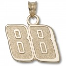 "Dale Earnhardt, Jr. 9/16"" Medium ""88"" Pendant - 10KT Gold Jewelry"
