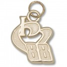 "Dale Earnhardt, Jr. Driver Number ""I Heart 88"" Charm - Gold Plated Jewelry"