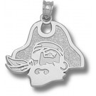 "East Carolina Pirates ""Pirate Head"" 5/8"" Pendant - Sterling Silver Jewelry"