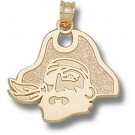"East Carolina Pirates ""Pirate Head"" 5/8"" Pendant - 14KT Gold Jewelry"