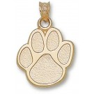 "Eastern Illinois Panthers ""Paw Print"" Pendant - 14KT Gold Jewelry"