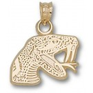 """Florida A & M Rattlers """"Rattler"""" Pendant - 14KT Gold Jewelry"""