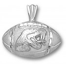 """Florida A & M Rattlers """"Football with Rattler Head"""" Pendant - Sterling Silver Jewelry"""