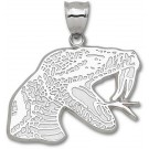 """Florida A & M Rattlers Giant 1 3/4"""" W x 1 1/4"""" H """"Rattler Head"""" Pendant - Sterling Silver Jewelry"""