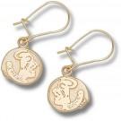 "Florida State Seminoles 3/8"" ""Seminole Head"" Dangle Earrings - 14KT Gold Jewelry"