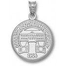 """Georgia Southern Eagles """"Seal"""" Pendant - Sterling Silver Jewelry"""
