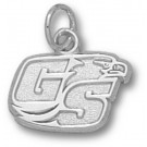 """Georgia Southern Eagles """"GS Eagle Head"""" 3/8"""" Charm - Sterling Silver Jewelry"""
