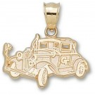 "Georgia Tech Yellow Jackets 5/8"" ""Ramblin' Wreck Car"" Pendant - 10KT Gold Jewelry"