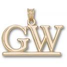 "George Washington Colonials ""GW"" Pendant - 10KT Gold Jewelry"