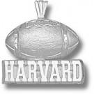 "Harvard Crimson ""Harvard Football"" Pendant - Sterling Silver Jewelry"