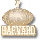 "Harvard Crimson ""Harvard Football"" Pendant - 14KT Gold Jewelry"
