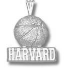 "Harvard Crimson ""Harvard Basketball"" Pendant - Sterling Silver Jewelry"