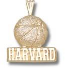 "Harvard Crimson ""Harvard Basketball"" Pendant - 14KT Gold Jewelry"