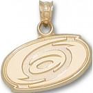 "Carolina Hurricanes 5/8"" Logo Pendant - 10KT Gold Jewelry"