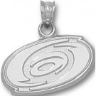 "Carolina Hurricanes ""Hurricanes Logo"" 5/8"" Pendant - Sterling Silver Jewelry"