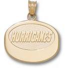 "Carolina Hurricanes ""Hurricanes Puck"" Pendant - 14KT Gold Jewelry"