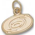 "Carolina Hurricanes ""Hurricanes Logo"" 3/8"" Charm - 14KT Gold Jewelry"
