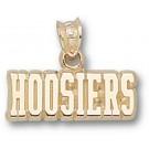 "Indiana Hoosiers ""Hoosiers"" Pendant - 14KT Gold Jewelry"
