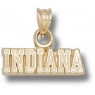 """Indiana Hoosiers """"Indiana"""" 3/16"""" Pendant - 14KT Gold Jewelry"""
