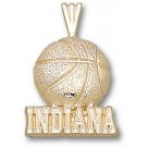 "Indiana Hoosiers ""Indiana Basketball"" Pendant - 14KT Gold Jewelry"