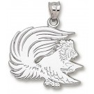 "Jacksonville State Gamecocks ""Gamecock"" 3/4"" Pendant - Sterling Silver Jewelry"