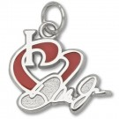 "Dale Earnhardt Jr. 1/2"" ""I Heart Dale Jr."" Enameled Charm - Sterling Silver Jewelry"