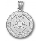 """Kent State Golden Flashes """"Seal"""" Pendant - Sterling Silver Jewelry"""
