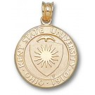 """Kent State Golden Flashes """"Seal"""" Pendant - 14KT Gold Jewelry"""