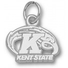 """Kent State Golden Flashes """"Kent State K with Eagle"""" Charm - Sterling Silver Jewelry"""