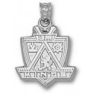 "Los Angeles Kings ""Kings Logo"" 5/8"" Pendant - Sterling Silver Jewelry"