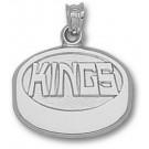 """Los Angeles Kings """"Kings Puck"""" Pendant - Sterling Silver Jewelry"""