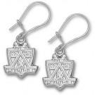 """Los Angeles Kings 1/2"""" Logo Dangle Earrings - Sterling Silver Jewelry"""